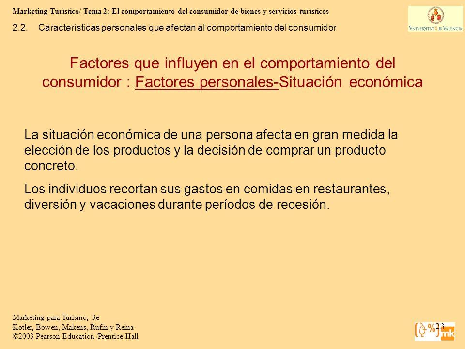 Marketing Turístico/ Tema 2: El comportamiento del consumidor de bienes y servicios turísticos 23 Marketing para Turismo, 3e Kotler, Bowen, Makens, Ru