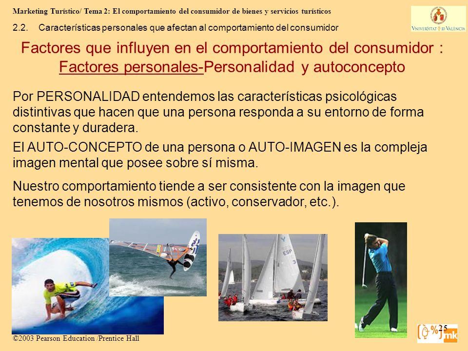 Marketing Turístico/ Tema 2: El comportamiento del consumidor de bienes y servicios turísticos 25 Marketing para Turismo, 3e Kotler, Bowen, Makens, Ru