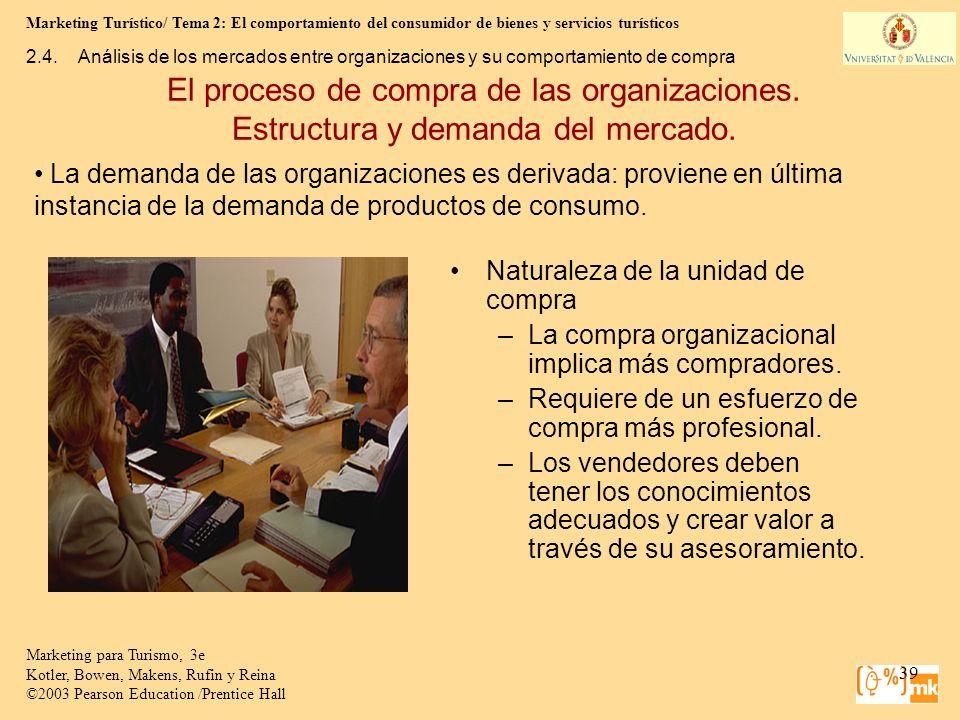 Marketing Turístico/ Tema 2: El comportamiento del consumidor de bienes y servicios turísticos 39 Marketing para Turismo, 3e Kotler, Bowen, Makens, Ru