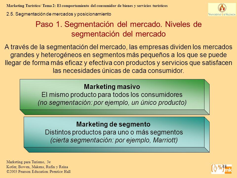 Marketing Turístico/ Tema 2: El comportamiento del consumidor de bienes y servicios turísticos 48 Marketing para Turismo, 3e Kotler, Bowen, Makens, Ru
