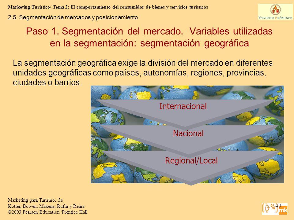 Marketing Turístico/ Tema 2: El comportamiento del consumidor de bienes y servicios turísticos 49 Marketing para Turismo, 3e Kotler, Bowen, Makens, Ru