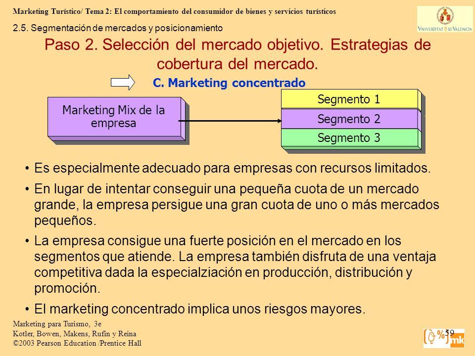 Marketing Turístico/ Tema 2: El comportamiento del consumidor de bienes y servicios turísticos 59 Marketing para Turismo, 3e Kotler, Bowen, Makens, Ru