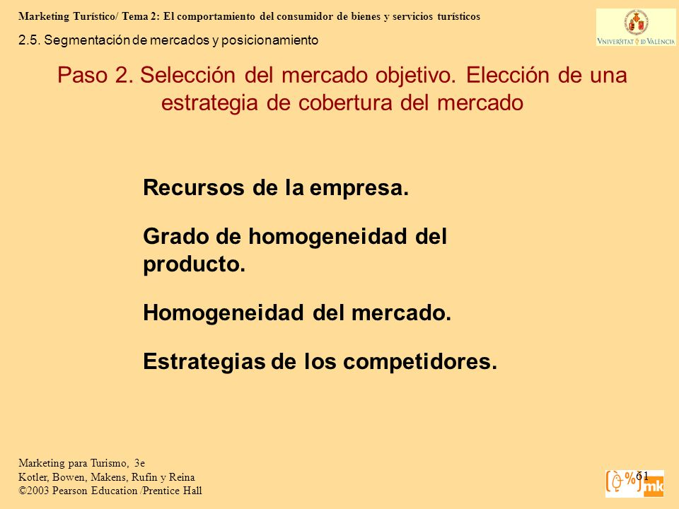 Marketing Turístico/ Tema 2: El comportamiento del consumidor de bienes y servicios turísticos 61 Marketing para Turismo, 3e Kotler, Bowen, Makens, Ru