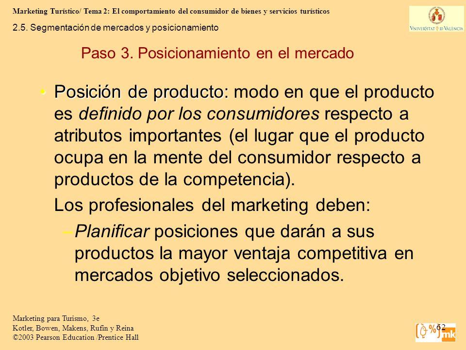Marketing Turístico/ Tema 2: El comportamiento del consumidor de bienes y servicios turísticos 62 Marketing para Turismo, 3e Kotler, Bowen, Makens, Ru
