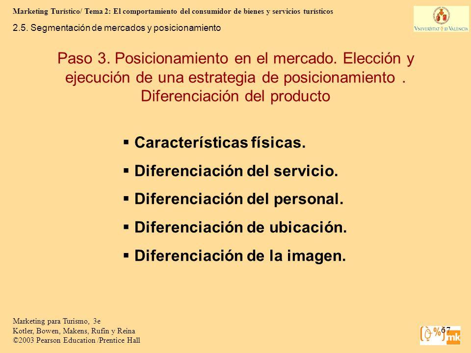 Marketing Turístico/ Tema 2: El comportamiento del consumidor de bienes y servicios turísticos 67 Marketing para Turismo, 3e Kotler, Bowen, Makens, Ru