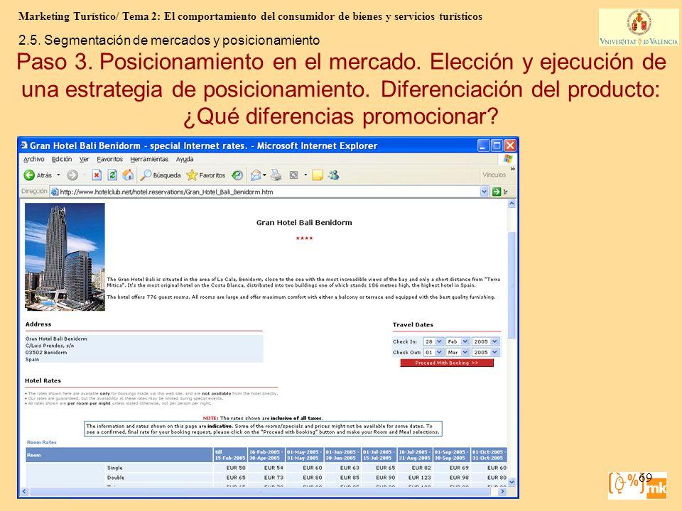 Marketing Turístico/ Tema 2: El comportamiento del consumidor de bienes y servicios turísticos 69 Marketing para Turismo, 3e Kotler, Bowen, Makens, Ru