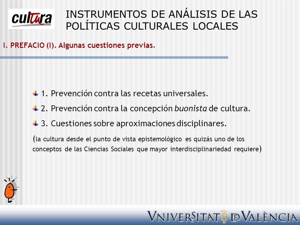 Bibliografía AA.VV.(2004): LA POLÍTICA CULTURAL EN ESPAÑA.