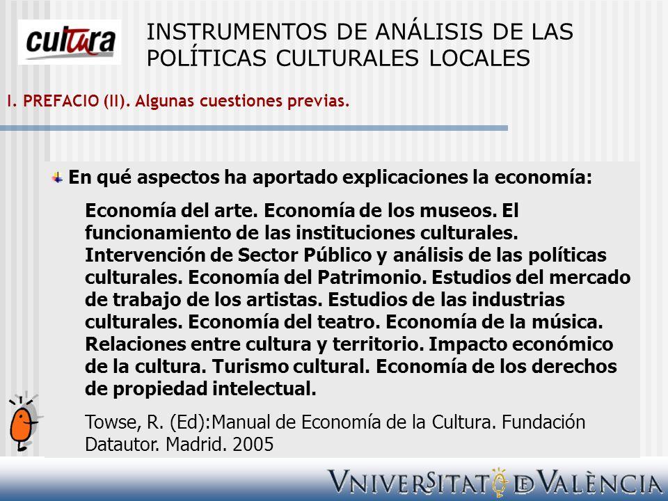 1.Las ventajas de la especialización productiva en cultura desde la dimensión económica.