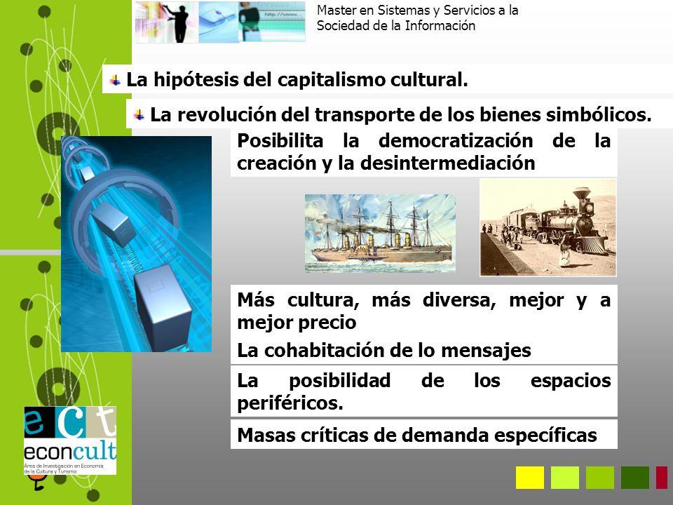 La hipótesis del capitalismo cultural. La revolución del transporte de los bienes simbólicos.