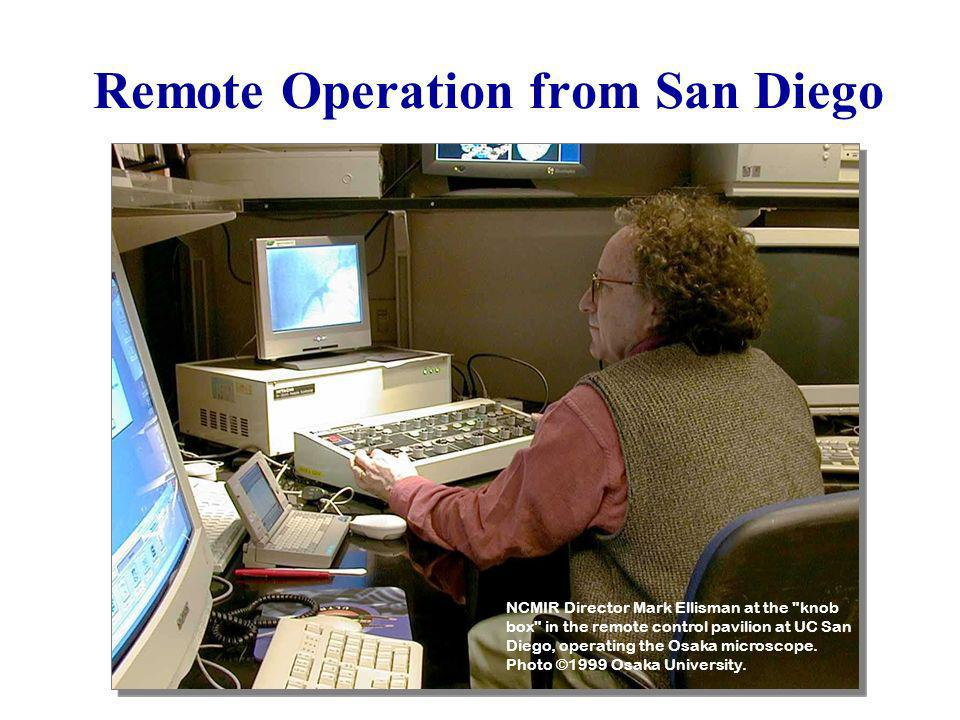 Remote Operation from San Diego NCMIR Director Mark Ellisman at the
