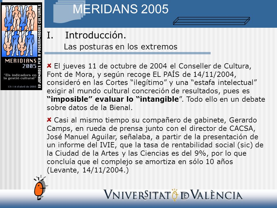 MERIDANS 2005 Contar no es sólo un ejercicio técnico.