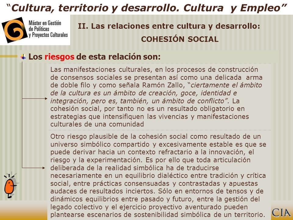 Cultura, territorio y desarrollo.