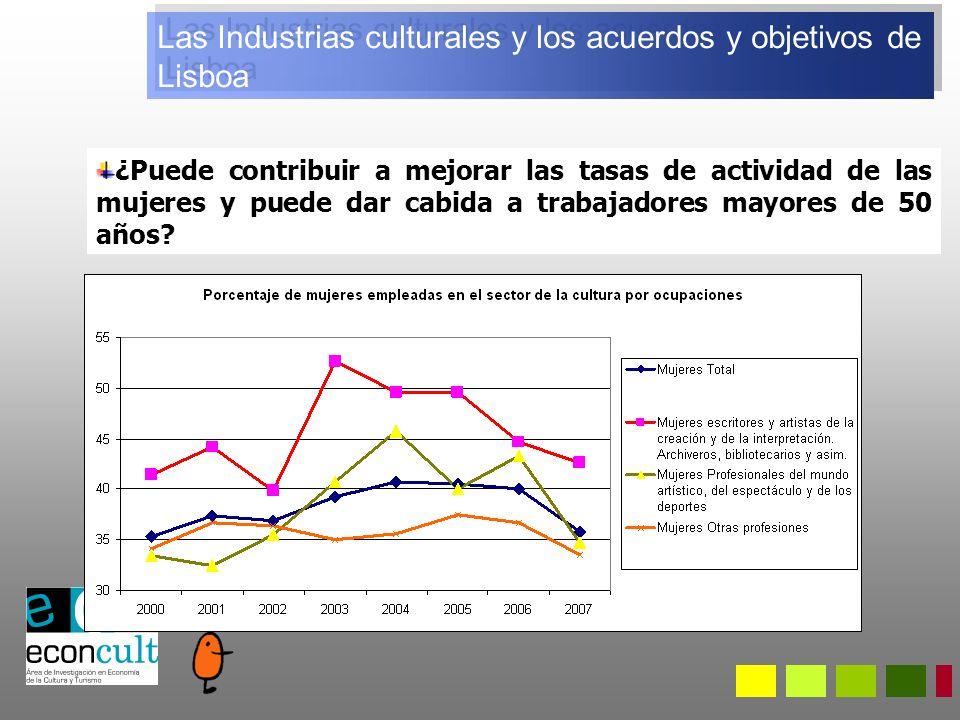 Las Industrias culturales y los acuerdos y objetivos de Lisboa ¿Puede contribuir a mejorar las tasas de actividad de las mujeres y puede dar cabida a trabajadores mayores de 50 años