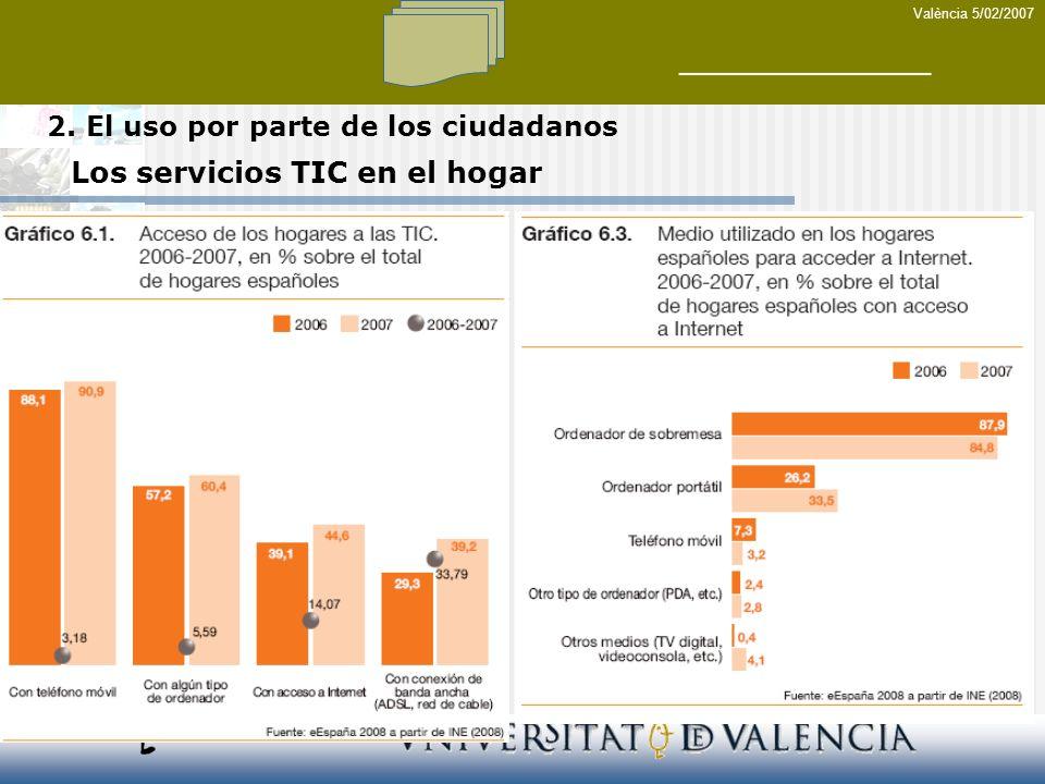 Los servicios TIC en el hogar