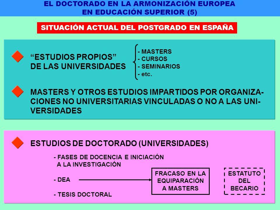 ESTUDIOS PROPIOS DE LAS UNIVERSIDADES - MASTERS - CURSOS - SEMINARIOS - etc.