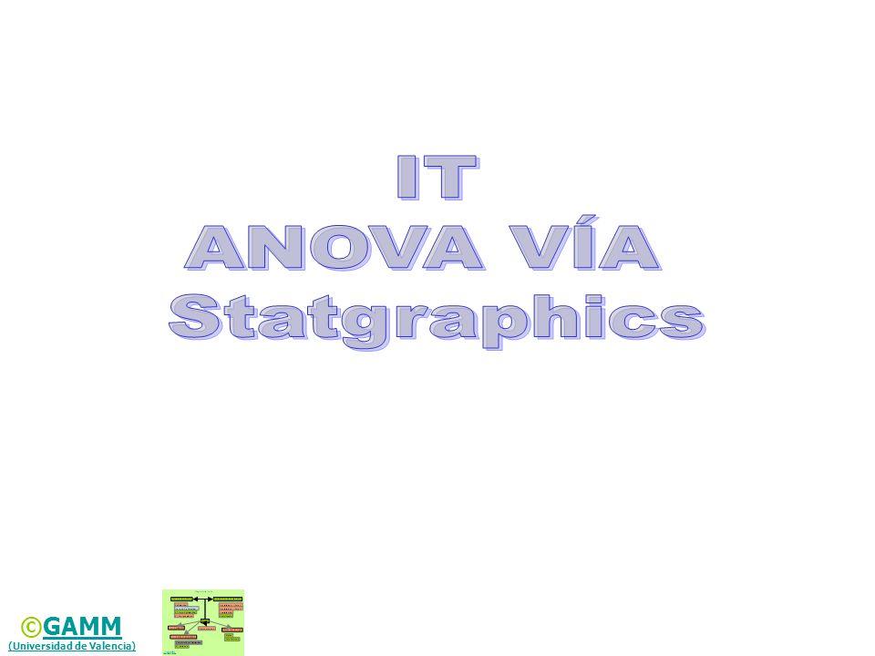 Formato de datos para ANOVA en el editor de datos de Statgraphics® (Datos organizados en X_Valid)X_Valid Formato de datos para ANOVA en el editor de datos de Statgraphics® (Datos organizados en X_Valid)X_Valid