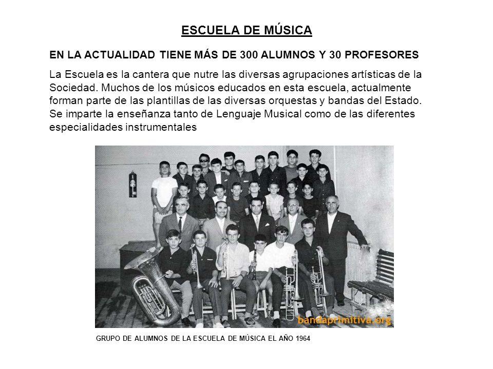 OUTPUT DESDE EL AÑO 2000 ESCUELA DE MÚSICA –Adquisición de nuevo instrumental por valor de 100.000 –Creación y mejora de nuevas becas.
