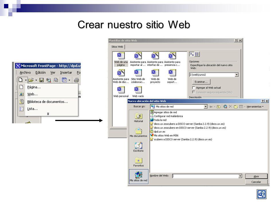 Crear nuestro sitio Web