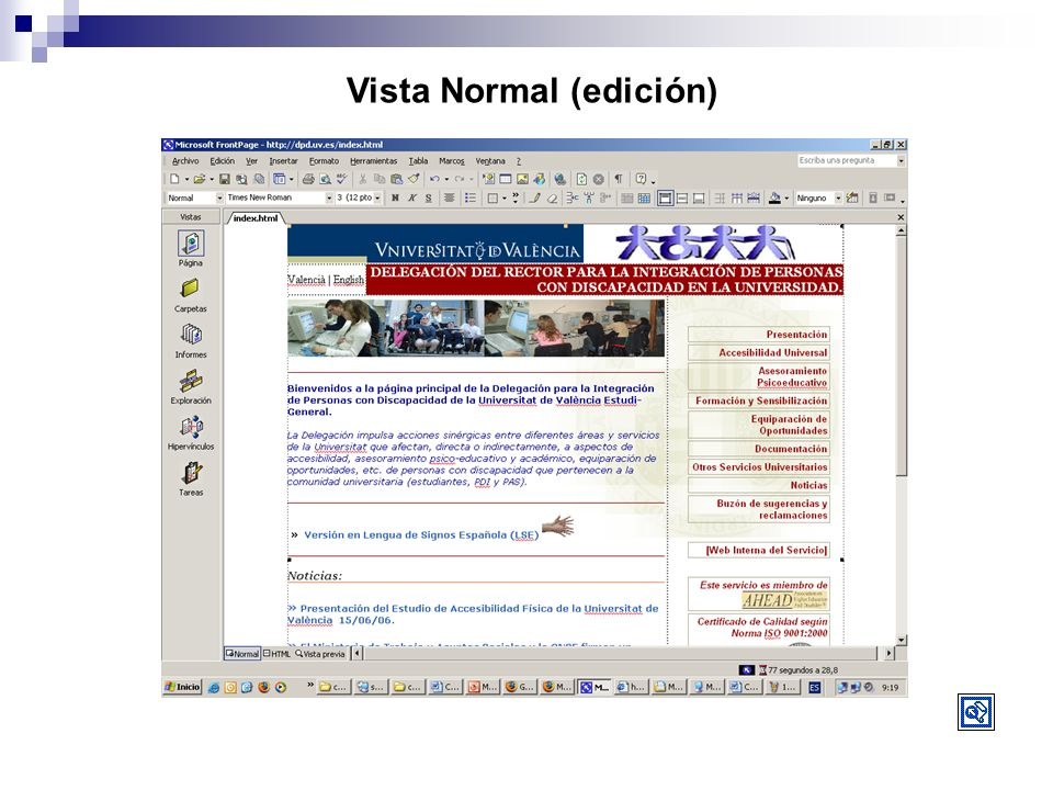 Vista Normal (edición)