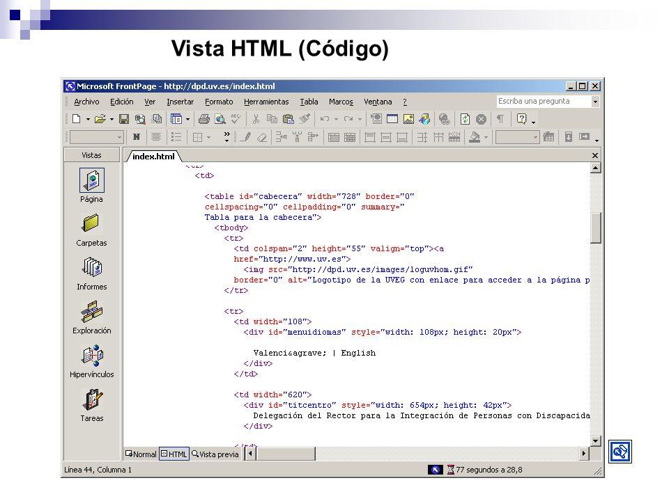 Vista HTML (Código)