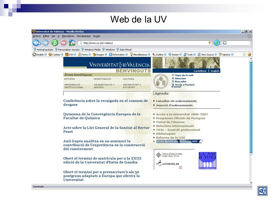 Web de la UV