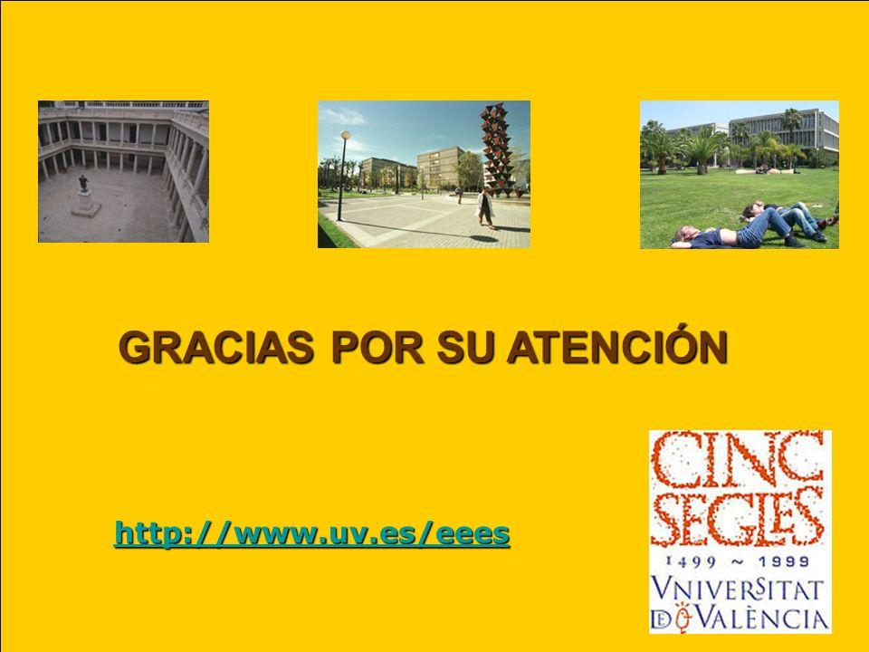 GRACIAS POR SU ATENCIÓN http://www.uv.es/eees