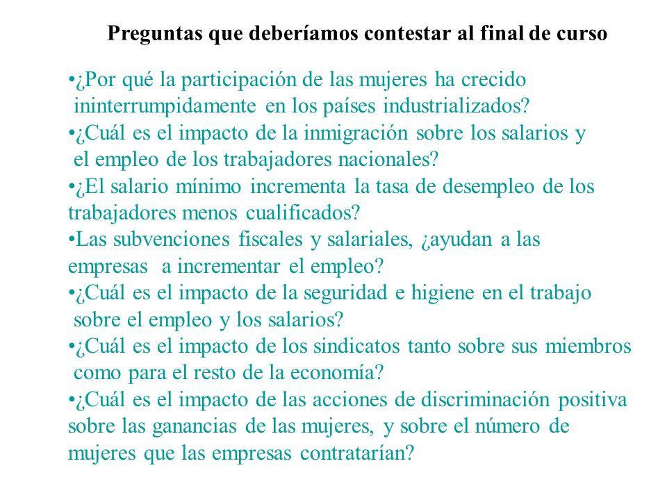 Tema 1. Visión Panorámica del Mercado de Trabajo