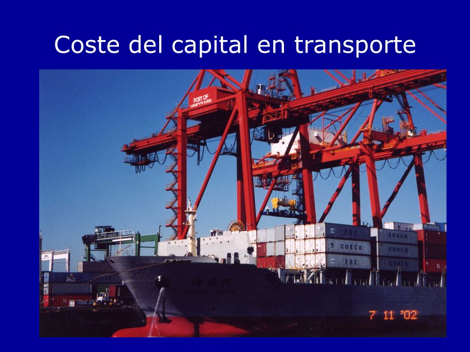 Coste del capital en transporte