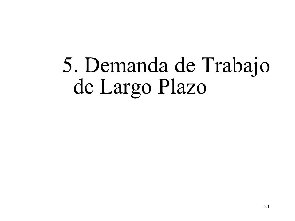 21 5. Demanda de Trabajo de Largo Plazo