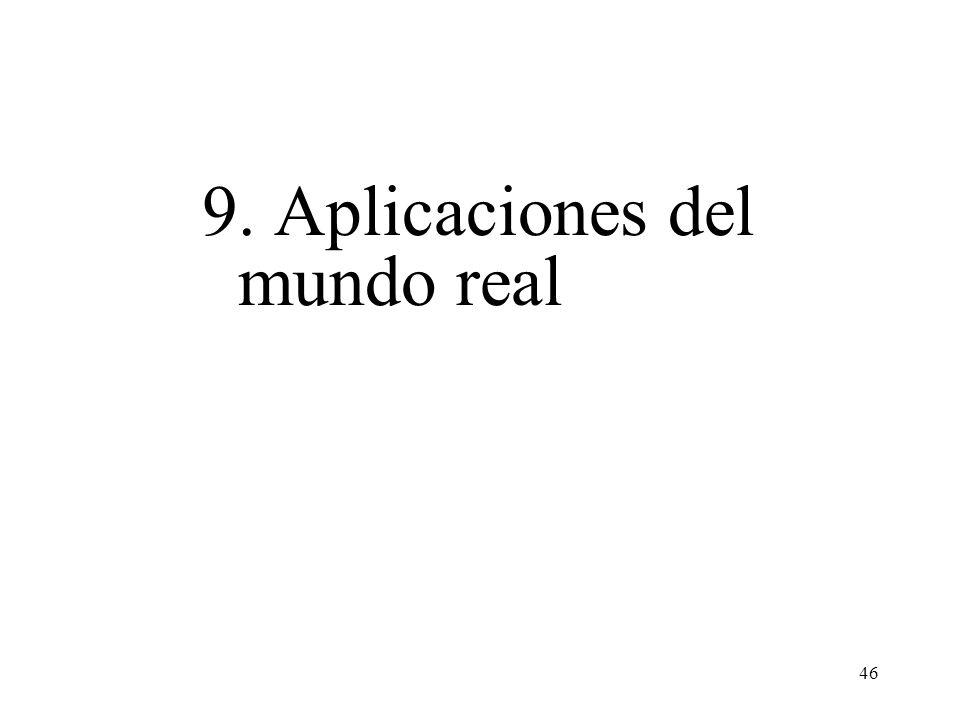 46 9. Aplicaciones del mundo real