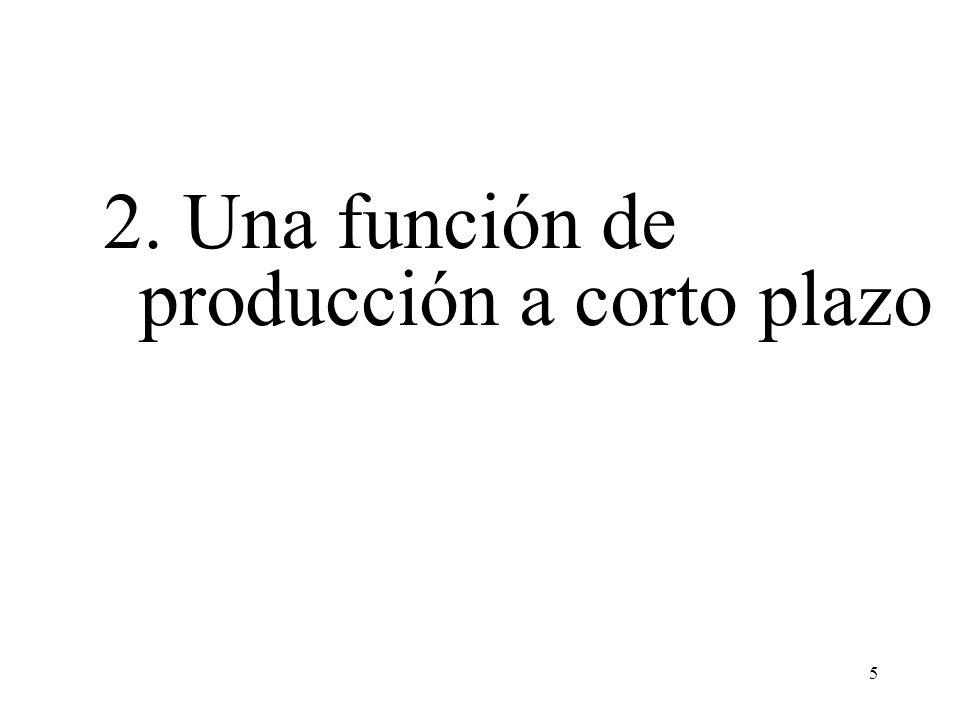 6 Una función de producción muestra la relación entre los recursos (factores) y la producción correspondiente Supongamos que se utilizan únicamente dos factores de producción para producir un bien o servicio: trabajo (L) y capital (K).