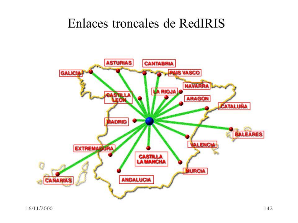 16/11/2000142 Enlaces troncales de RedIRIS