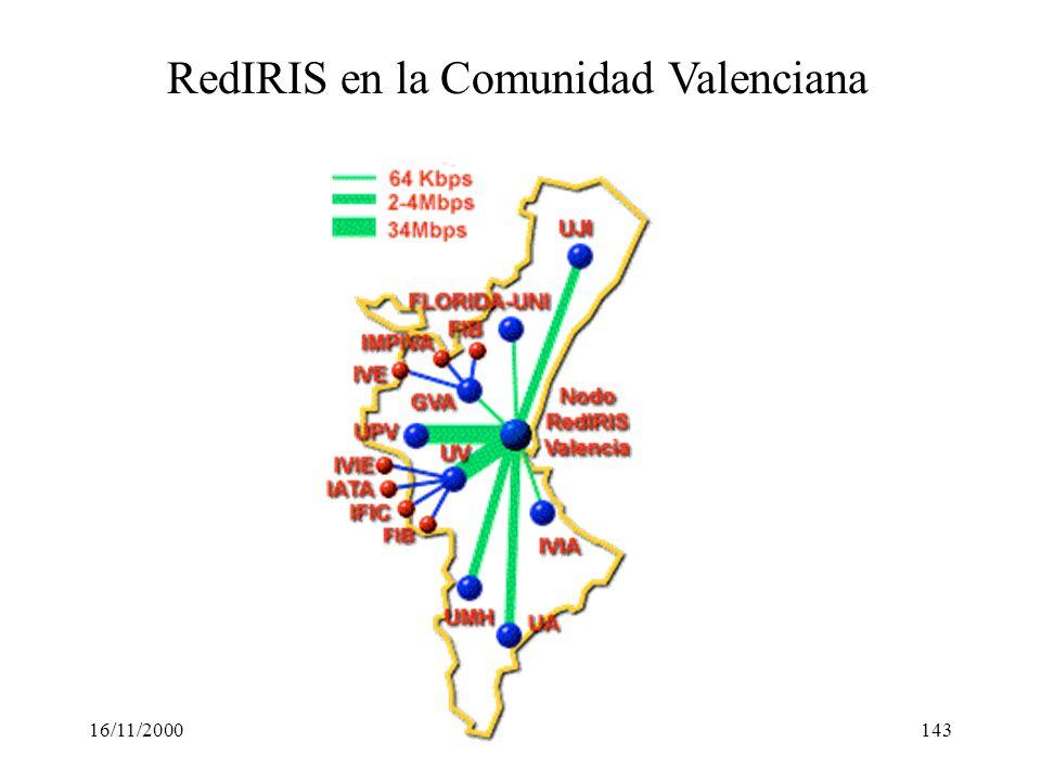 16/11/2000143 RedIRIS en la Comunidad Valenciana