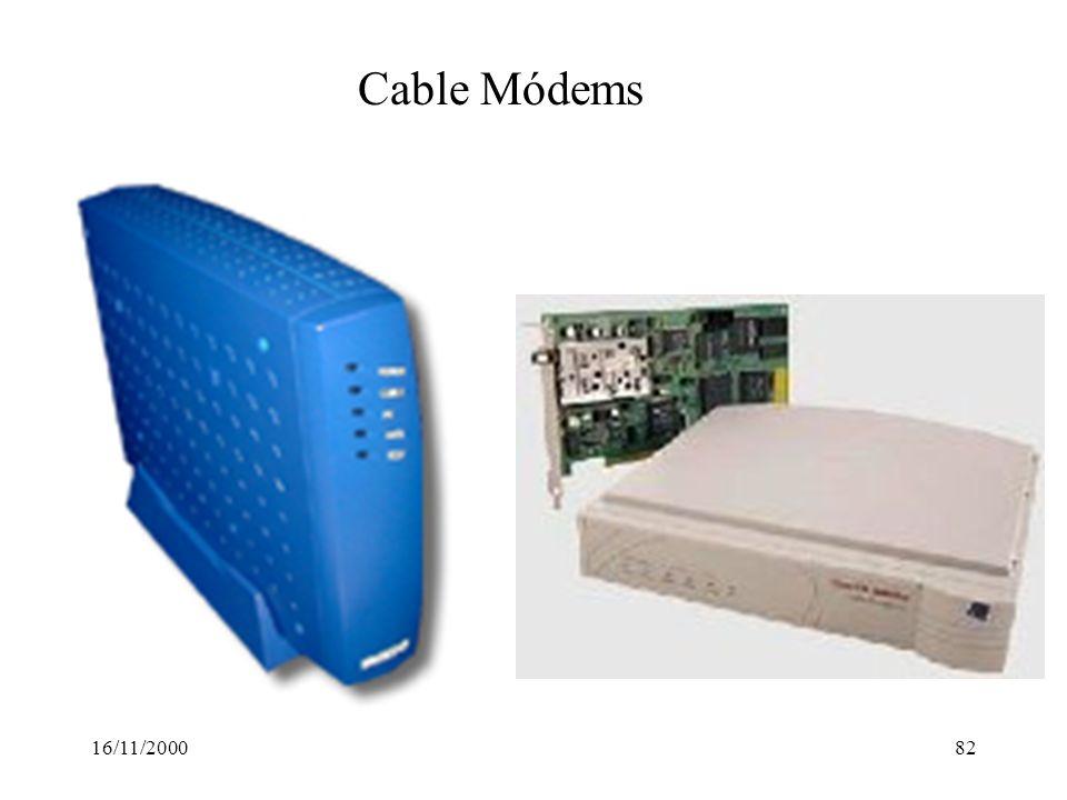 16/11/200082 Cable Módems