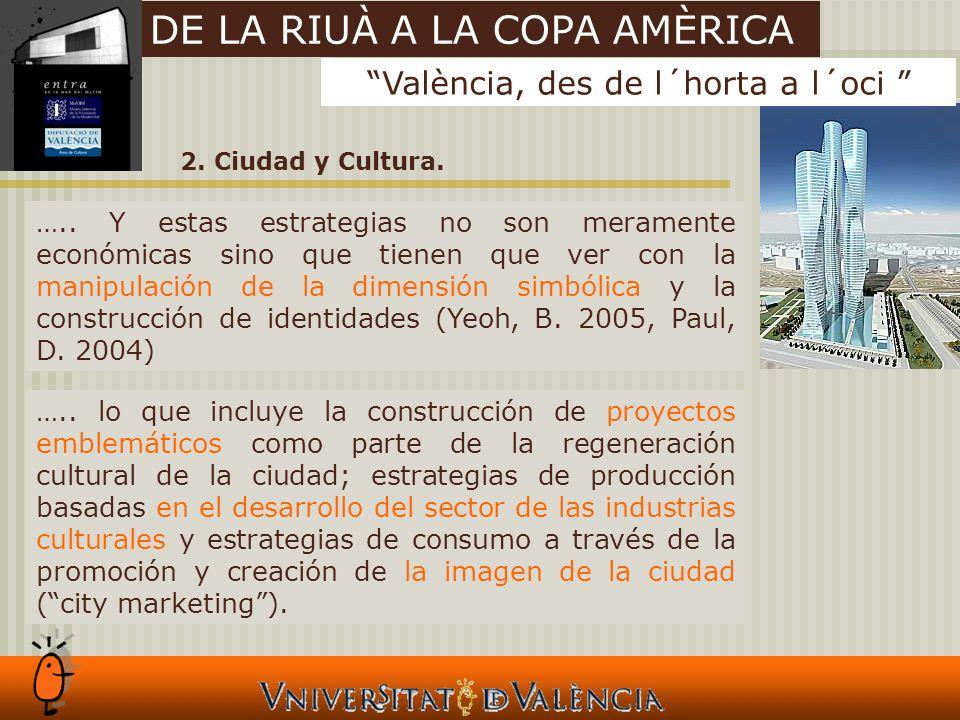 2. Ciudad y Cultura. …..
