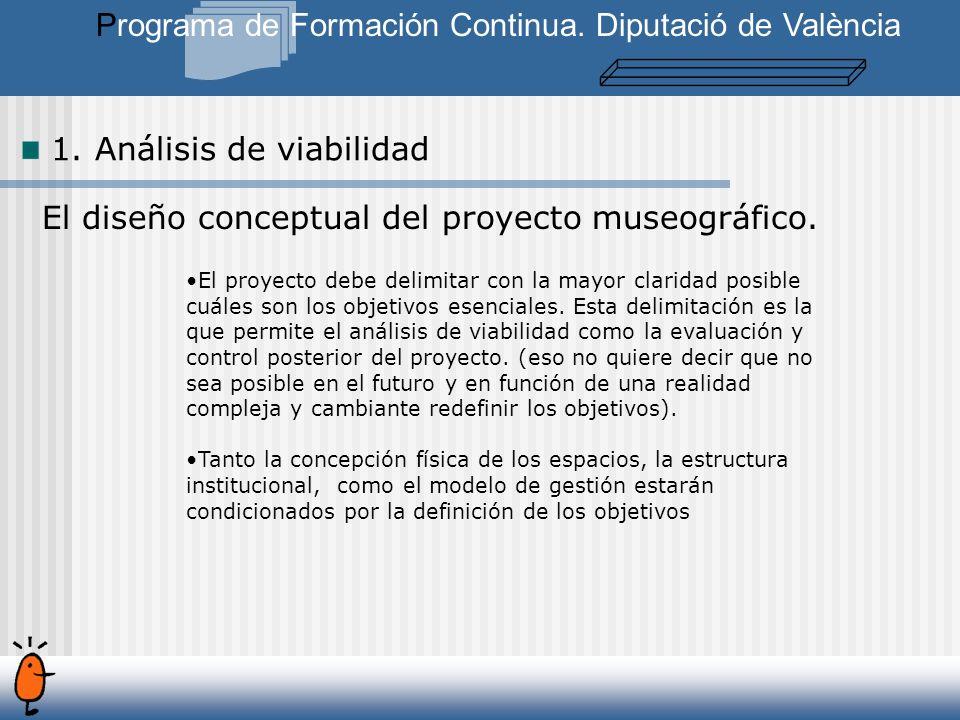 El diseño conceptual del proyecto museográfico.