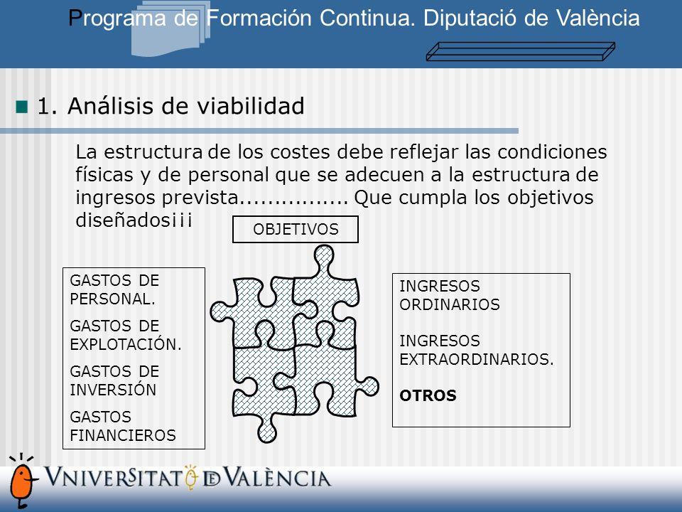 La estructura de los costes debe reflejar las condiciones físicas y de personal que se adecuen a la estructura de ingresos prevista................