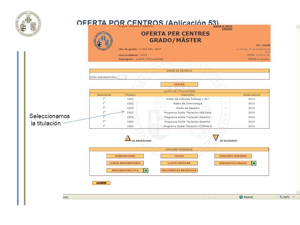 Curso de Gestión Aplicaciones Informáticas LISTA DE ASIGNATURAS Detalle de una asignatura ya dada de alta