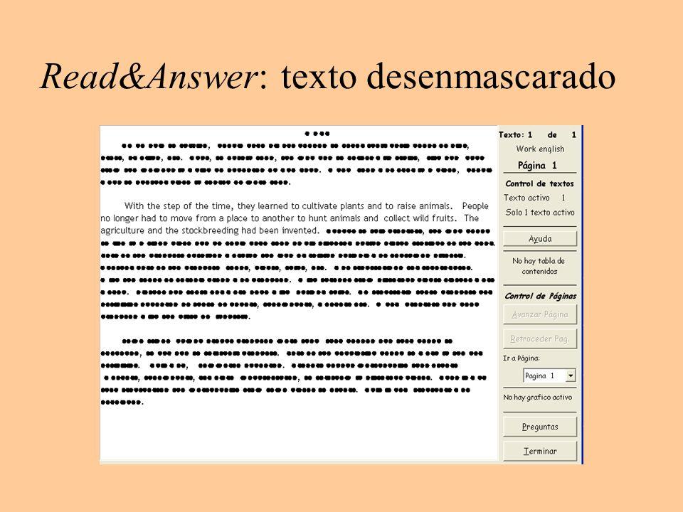 Read&Answer: texto desenmascarado