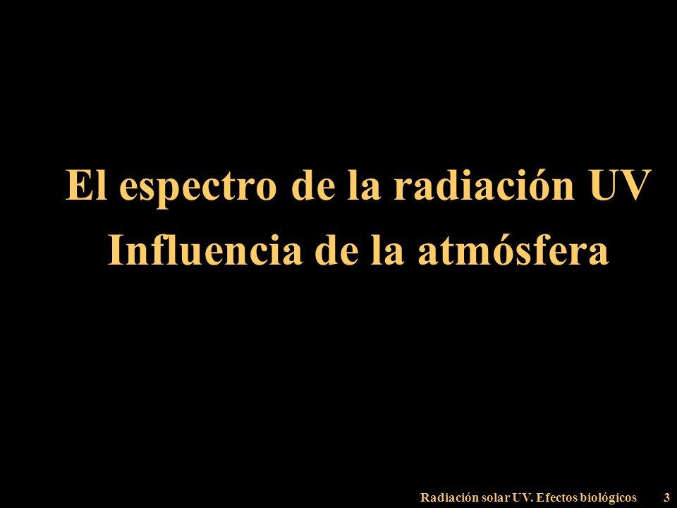 Radiación solar UV. Efectos biológicos74 Modelización de la radiación UV