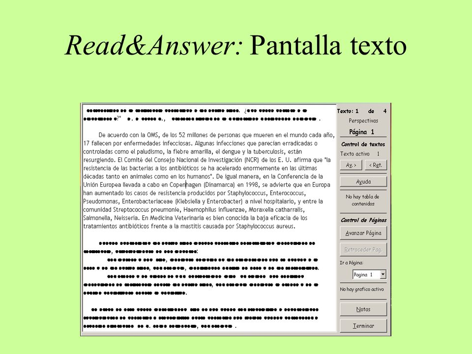 Read&Answer: Pantalla Notas