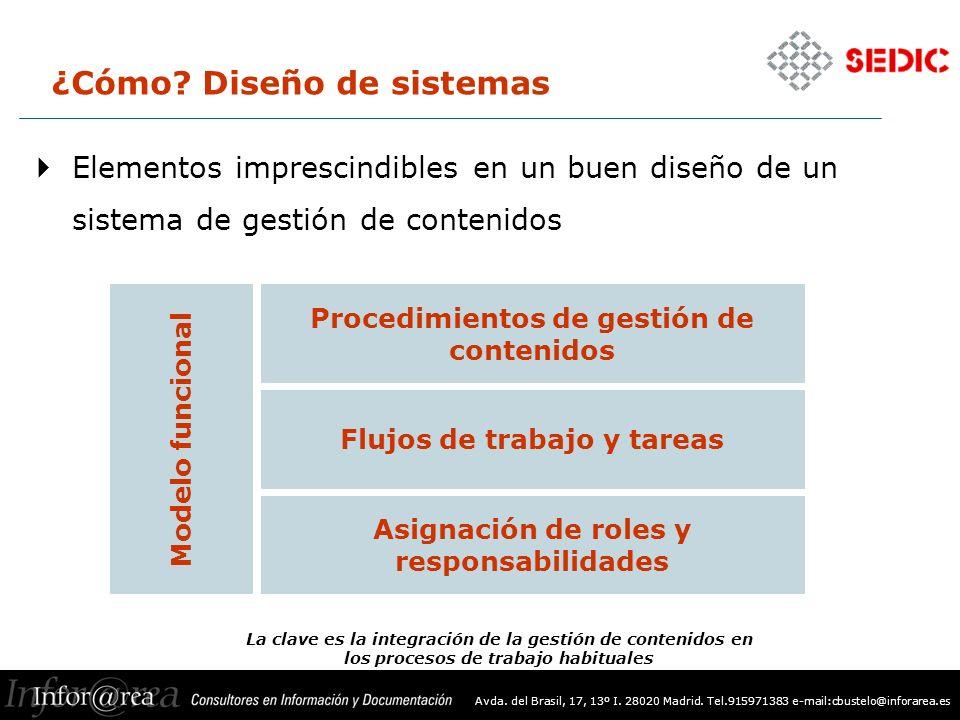 Avda. del Brasil, 17, 13º I. 28020 Madrid. Tel.915971383 e-mail:cbustelo@inforarea.es ¿Cómo.