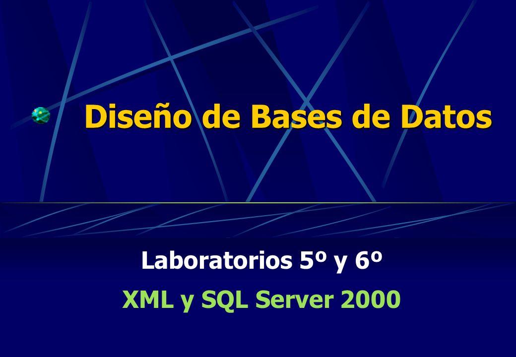 Diseño de Bases de Datos Laboratorios 5º y 6º XML y SQL Server 2000
