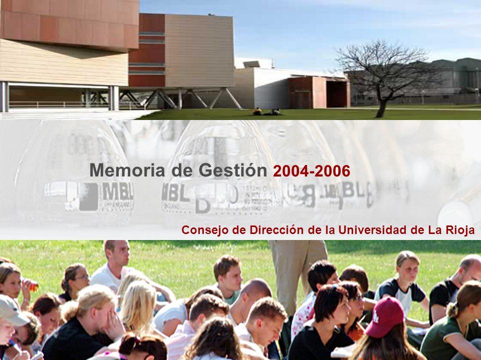 Consejo de Dirección de la Universidad de La Rioja Memoria de Gestión 2004-2006