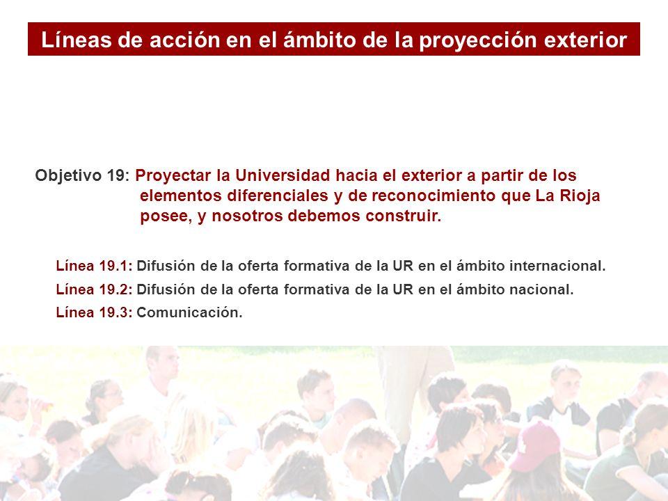 Objetivo 19: Proyectar la Universidad hacia el exterior a partir de los elementos diferenciales y de reconocimiento que La Rioja posee, y nosotros debemos construir.