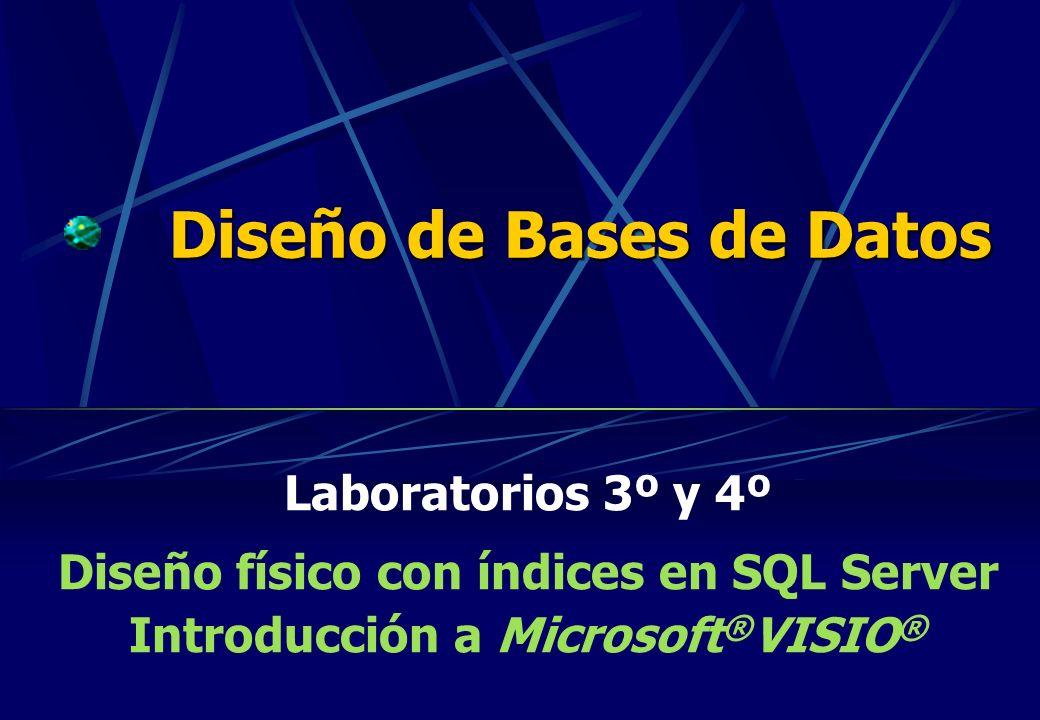 Diseño de Bases de Datos Laboratorios 3º y 4º Diseño físico con índices en SQL Server Introducción a Microsoft ® VISIO ®