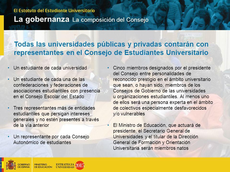 Todas las universidades públicas y privadas contarán con representantes en el Consejo de Estudiantes Universitario Un estudiante de cada universidad U