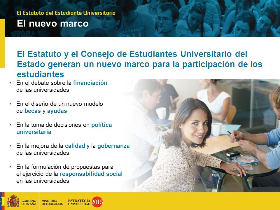 El nuevo marco El Estatuto y el Consejo de Estudiantes Universitario del Estado generan un nuevo marco para la participación de los estudiantes En el
