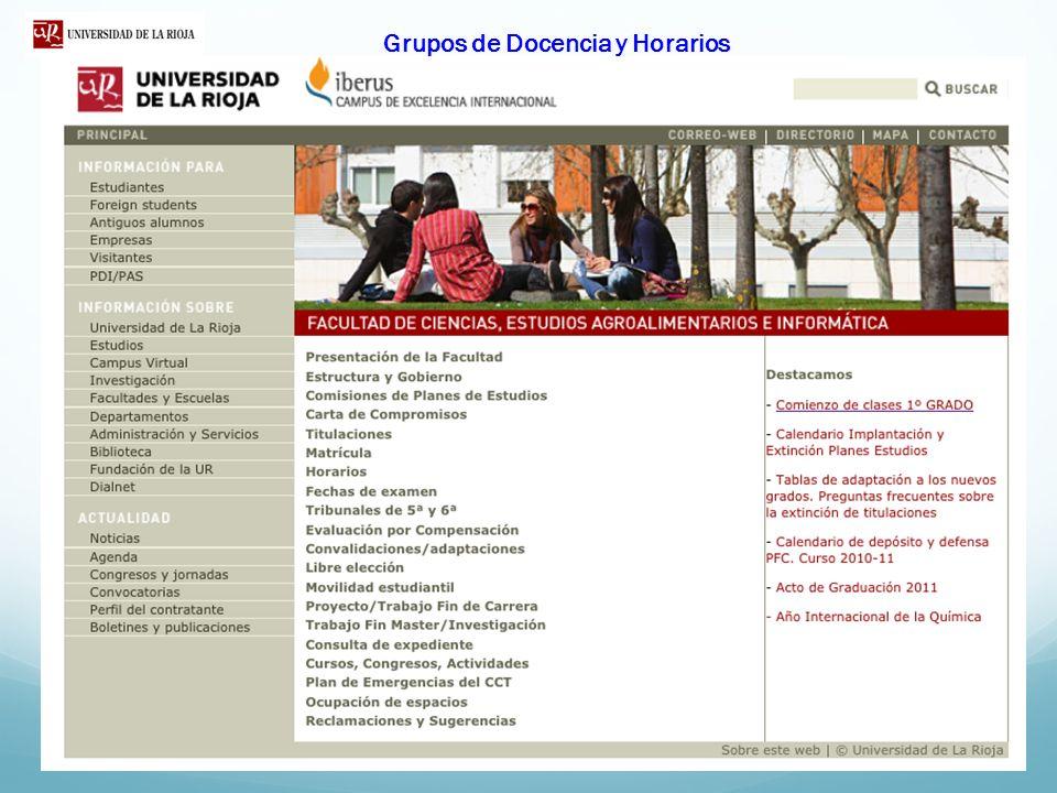 GRADO EN QUÍMICA ASPECTOS METODOLÓGICOS TODAS LAS ASIGNATURAS TIENEN UNA GUÍA DOCENTE PUBLICADA ANTES DEL PERIODO DE MATRUCULA http://www.unirioja.es/estudios/grados/quimica/index.shtml