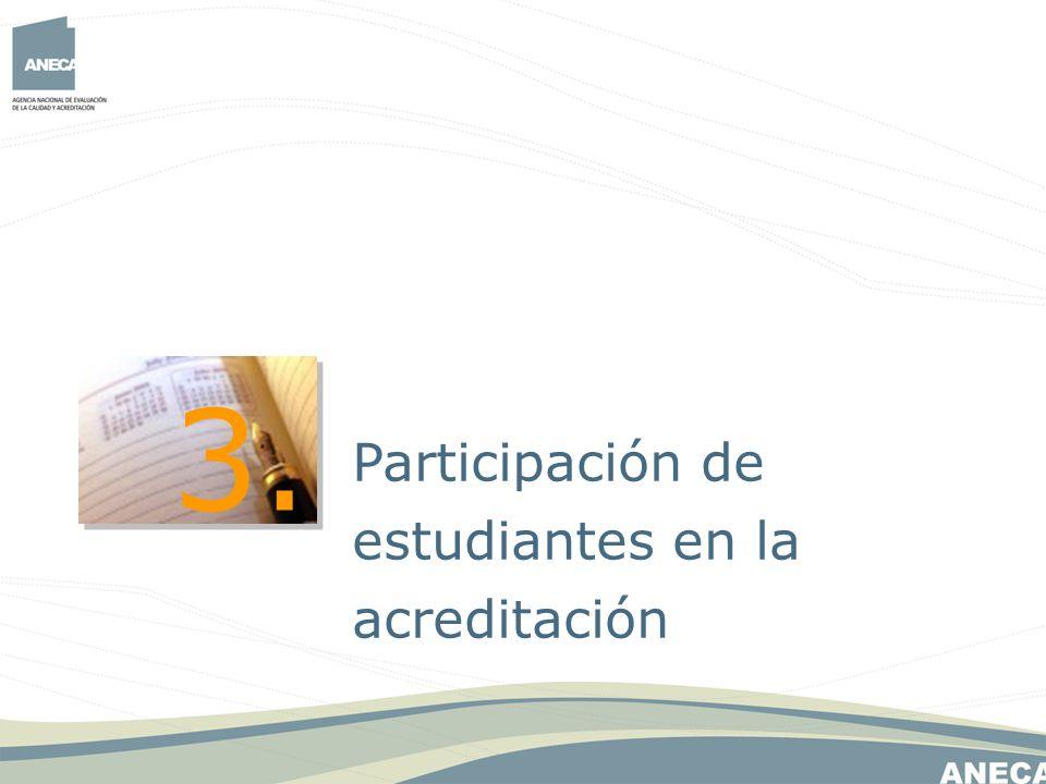3. Participación de estudiantes en la acreditación